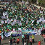 ৭ই মার্চ উপলক্ষ্যে গাজীপুর মহানগর যুবলীগের আহবায়ক কামরুল আহসান রাসেল সরকারের নেতৃত্বে মিছিল