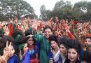 সহস্রাধিক শিক্ষার্থীর সঙ্গে জাতীয় সঙ্গীত গাইলেন ইকবাল হোসেন সবুজ